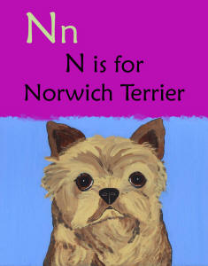Page Detail - N is for Norwich Terrier