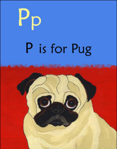 Page Detail - P is for Pug