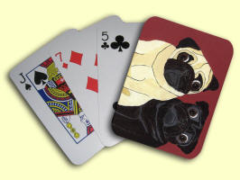 Playing Cards - Design A25 showing horizonal orientation.